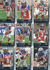 2015 2016 Upper Deck CFL Montreal Alouettes Offense Team Sets (23) Both Years