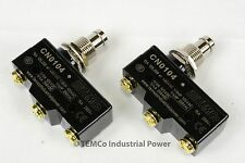 2 LOT TEMCo HEAVY DUTY 15A Micro Limit Switch Plunger SPDT Snap Action 125/250v