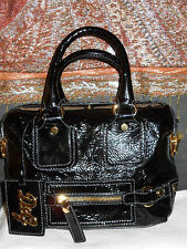 DOLCE & GABBANA/DR.SLY SATCHEL/PURSE/BAG/CRINKLE LETHER/GOLDEN BRASS.E.U.C