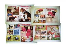 Dog Sweater Knitting Pattern Booklets -Set of Four Different-CLEARANCE!