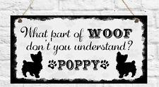 Plaque personnalisée animaux chien n'importe quelle race Pug Chihuahua westie cadeau présent