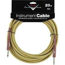 Genuine Fender® 20' Custom Shop Tweed Instrument Cable  # 0990820050 - 20 ft.