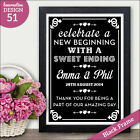 PERSONALISED Wedding Signs Sweet Table Candy Bar Take a Treat Sweeite Bar Signs