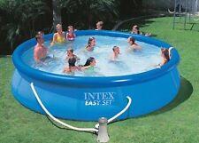 Piscina easy autoportante rotonda Intex 457x107 cm fuori terra con pompa filtro