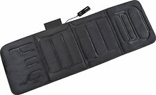 Body Massage Mat Portable Heat Cushion Vibrating Hot Pad Back Electric Black