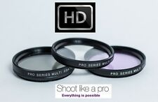 NEW 3-PC PRO HD GLASS FILTER KIT (UV POLARIZER FLD) FOR NIKON J1 V1