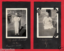 "FUNNY INSCRIPTION BAKER ""DOCTOR"" MAN w CAKE in ALLEY! 1920s VINTAGE PHOTO LOT!"