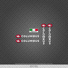 0110 Columbus Bicycle Frame And Fork Stickers - Decals - Transfers - White