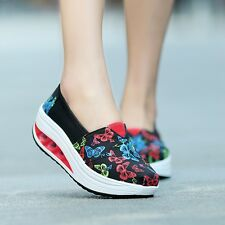 Women Flat Heel Sport Ankle Boots High Top Canvas Sneaker Casual Spring Shoes