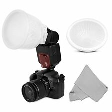 Universal Cloud lambency flash diffuser + White Dome Cover  Fits all flashes US