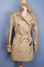 Womens BURBERRY Bespoke Short TRENCH Coat Mac Beige 8/10 BEAUTIFUL