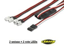 CARSON RC-CAR LED LIGHT SET MIT 4 LED´s & SCHALTELEKTRONIK # 500906239