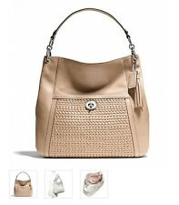 NWT COACH Park Woven Leather Piper Tan Hobo Bag F23931 $598