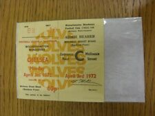 03/04/1972 Ticket: Wolverhampton Wanderers v Chelsea (Complete Ticket). Thanks f