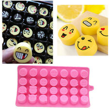 Lovely QQEmoji Silicone Mold Cake Candy Baking Mould Decorating Sugercraft Decor
