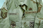USAF DESERT CAMO BDU DCU SHIRT W/ PATCHES SECURITY POLICE MSTR SGT MEDIUM SHORT