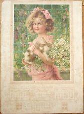 Nestle Farine/Harina Lacteada/Flour 1914 Color Litho Advertising Sign/Calendar