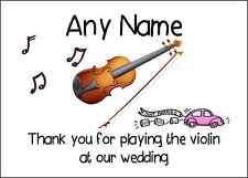Gracias por tocar el violin en nuestra boda Personalizado Impreso