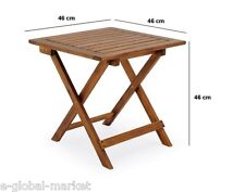 Wooden Side End Coffee Table Wood Stand Folding Low Small Snack Bistro Brown
