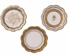 Gold Paper Plates - Christmas/Gold Themed Wedding