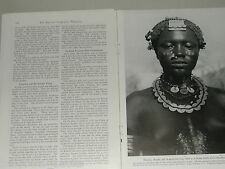 1951 magazine article AFRICA, Kordofan, Sudan, Nuba Hillmen, Natives etc