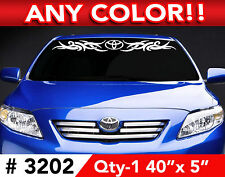 "TOYOTA CAMRY COROLLA TRIBAL WINDSHIELD DECAL STICKER 40""wx 5"" Any 1 Color"