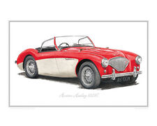 Austin-Healey 100M - Limited Edition Classic Car Print Poster by Steve Dunn
