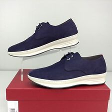 Salvatore Ferragamo Marland Sneakers Royal Blue Lace Up Oxford US 7 D