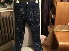 M&S girls jewel front jeans `-age 6/7