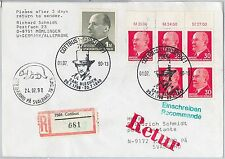 56789 - POLAR Bear ART - GERMANY DDR - POSTAL HISTORY: Cover to Svalbard 1990