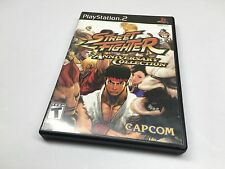 Street Fighter Anniversary Collection Playstation 2 PS2 COMPLETE TESTED FAST SH