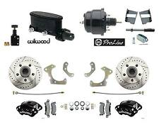 1958-68 Fullsize Chevy Disc Brake Kit w/ BK Wilwood Calipers, Master, pc Booster