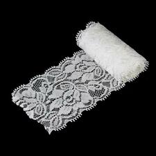 Beautiful White Elastic Lace DIY Trimmings Clothes Sewing Applique Craft 5Yd