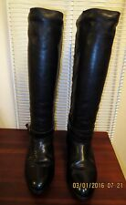 Santana Canada Black Leather Riding Style Pull On Winter Boots Women's 7M