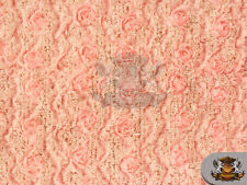 "MINKY ROSE RIBBON EYELASH Fabric / 52"" W / Sold by the yard"