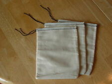 25 (6x8) Black Hem and Black Drawstring muslin bags