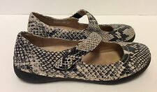 Vionic Womens Cloud Harper Orthotic Mary Jane - Natural Snake US 6 Worn Once