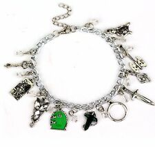 Lord Of The Rings ( 10 Themed Charms) Assorted Metal Charm BRACELET
