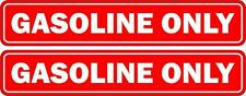 Set 2x sticker decal car rental door bumper macbook laptop gasoline only red