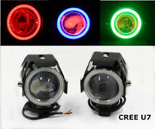 2x 125W 3000LM CREE U7 Green LED Motorcycle Driving Fog Lamp Spot Headlight US