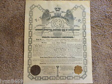 1920 DOCUMENT ANCIENT ACCEPTED SCOTTISH RITE OF FREE MASONRY