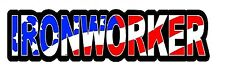 IRONWORKER AMERICAN FLAG STICKER (LOT OF 3)