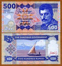 Zanzibar (Tanzania), 500 Rupees, 2017, Private Issue, UNC   Freddie Mercury