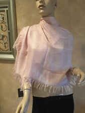 NWT AUTHENTIC LARGE LOGO GUCCI PINK/PEACH LARGE 115 X 25 SCARF/ WRAP - GORGEOUS!
