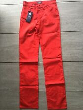 Armani Jeans Ladies Red Jeans / Trousers Size 26. Brand New With Tags RRP £148.