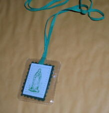 GREEN Laminated IMMACULATE HEART OF MARY  Scapular New Catholic