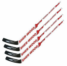 "4 Sherwood T70 composite goal stick left 26"" PP41 red new senior hockey goalie"