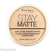 Rimmel Stay Matte Puder Long Lasting Transparent 001 14g Neu
