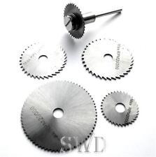 6pc HSS mini saw drill disc set craft diy cutting flooring blade dremell rotary