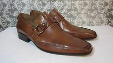 Urban Male Square Toe Men's Shoes Size 8.5 M BROWN Leather